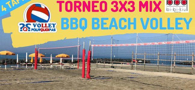 Torneo 3×3 BBQ Beach Volley – 4^ tappa – 10 agosto 🗓 🗺